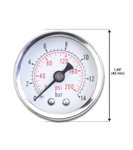 "1/4"" Heavy Duty Pressure Gauge"