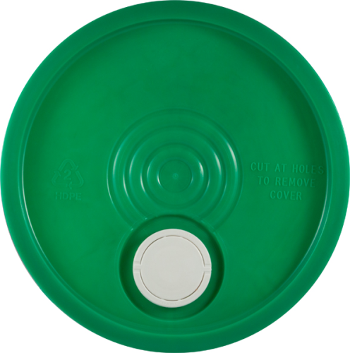 Green Lid with pour spout for 5 gallon pails